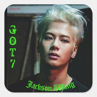 Jackson Wang Fyrkantigt Klistermärke