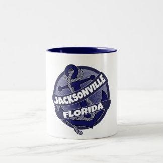 Jacksonville Florida ankrar virvlar runt Två-Tonad Mugg