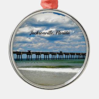 Jacksonville Florida pir Julgransprydnad Metall