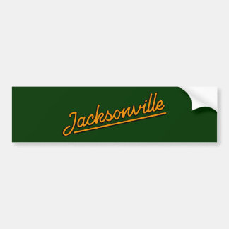 Jacksonville i orange bildekal