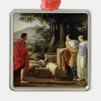 Jacob med döttrarna av Laban, 1787 Julgransprydnad Metall