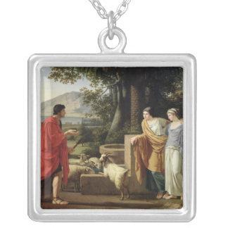 Jacob med döttrarna av Laban, 1787 Silverpläterat Halsband