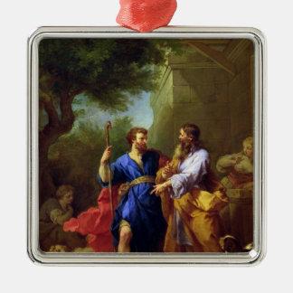 Jacob och Laban, för 1737 Julgransprydnad Metall