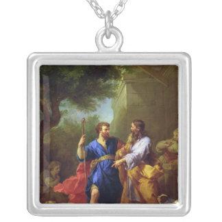 Jacob och Laban, för 1737 Silverpläterat Halsband
