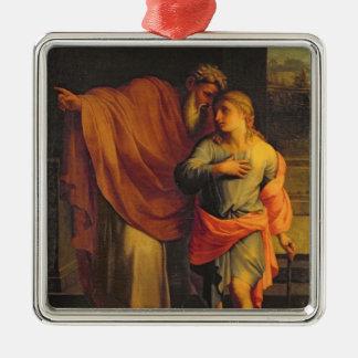 Jacob som överför hans Son, Joseph Julgransprydnad Metall