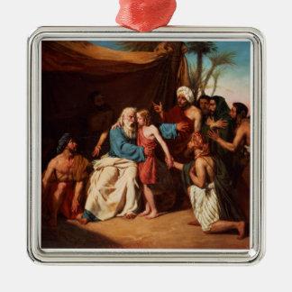 Jacob som vägrar för att frigöra Benjamin, 1829 Julgransprydnad Metall
