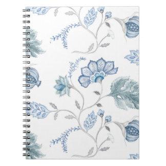 Jacobean blått förbigår journalen anteckningsbok