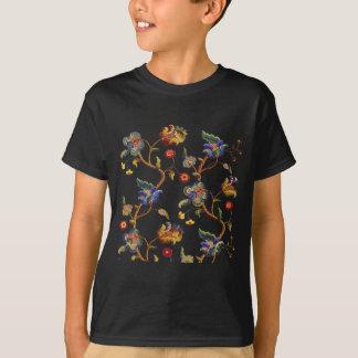 Jacobean broderat Albemarle mönster T-shirt
