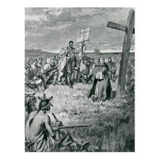 Jacques Cartier inställning - upp en kor på Gaspe Vykort