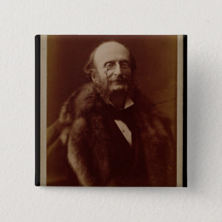 Jacques Offenbach (1819-80), tysk kompositör, port Standard Kanpp Fyrkantig 5.1 Cm