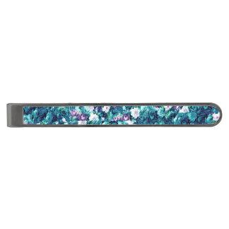 Jade för gotiska rosa lilor för vintage urblekt slipsnål med metallgråfinish