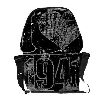 Jag älskar 1941 - svart vintage - budbärare hänger messenger bag