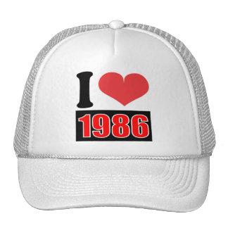 Jag älskar 1986    - hatten trucker kepsar