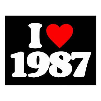 JAG ÄLSKAR 1987 VYKORT