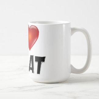 Jag älskar 2 äter kaffemugg
