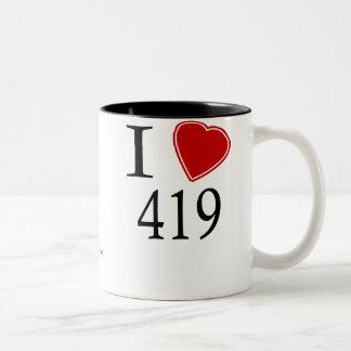 Jag älskar 419 Toledo Två-Tonad Mugg