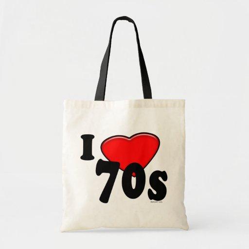 Jag älskar 70-tal hänger lös tygkassar