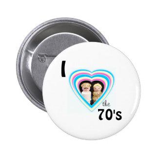 Jag älskar 70-tal standard knapp rund 5.7 cm
