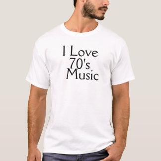 Jag älskar 70-talmusikmanar grundläggande T-tröja Tröja