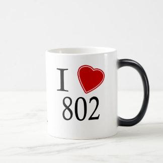 Jag älskar 802 Burlington Magisk Mugg