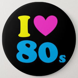 Jag älskar 80-tal jumbo knapp rund 15.2 cm