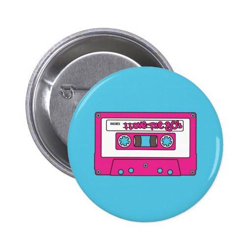 Jag älskar 80-tal knapp med nål