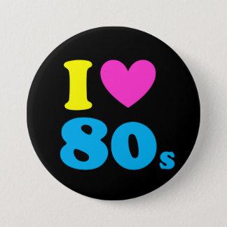 Jag älskar 80-tal mellanstor knapp rund 7.6 cm