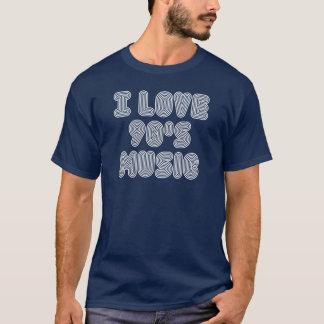 Jag älskar 90-talmusik (vittext) t-shirt