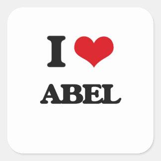 Jag älskar Abel Fyrkantigt Klistermärke
