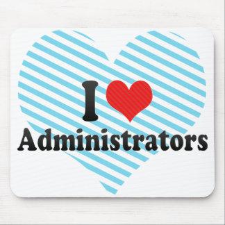 Jag älskar administratörer musmatta