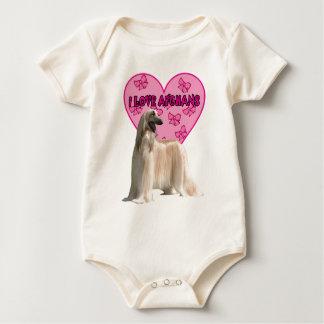 Jag älskar Afghans, den afghanska hunden, stor Body För Baby