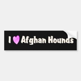 Jag älskar afghanska hundar bildekal