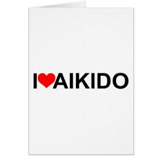 Jag älskar Aikido Hälsningskort