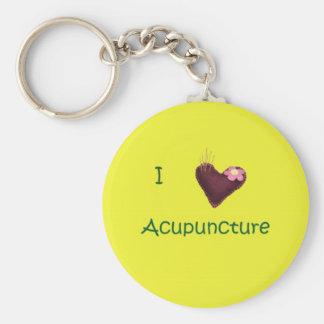 Jag älskar akupunktur Keychain Rund Nyckelring