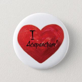 Jag älskar akupunktur knäppas klämmer fast standard knapp rund 5.7 cm
