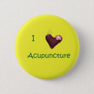 Jag älskar akupunktur knäppas standard knapp rund 5.7 cm