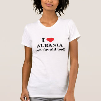 Jag älskar Albanien Tröjor