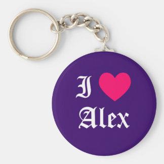 Jag älskar Alex Rund Nyckelring