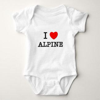 Jag älskar alpint tee shirt