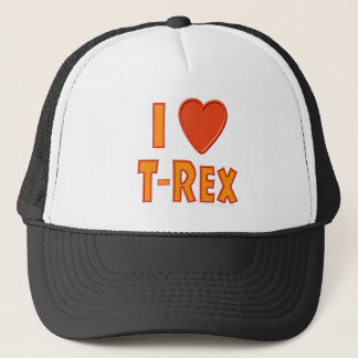 Jag älskar älskare för den T-Rex TyrannosaurusRex Truckerkeps
