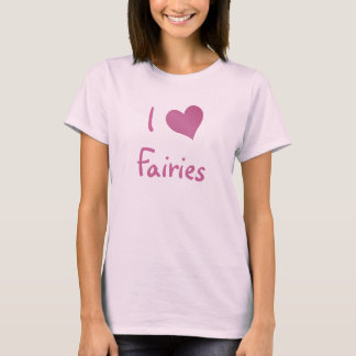 Jag älskar älvor t-shirts