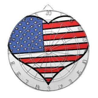 Jag älskar Amerika - USA pride Piltavla