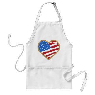 Jag älskar amerikan för USA hjärtaindependence day Förkläde
