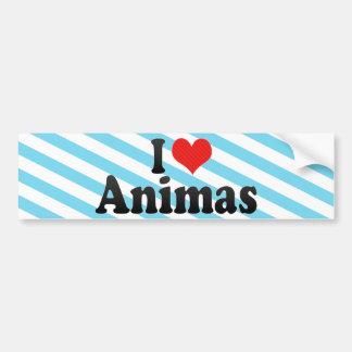 Jag älskar Animas Bildekal