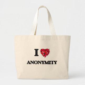 Jag älskar anonymitet jumbo tygkasse