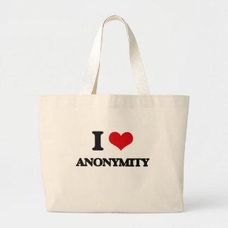 Jag älskar anonymitet tote bag
