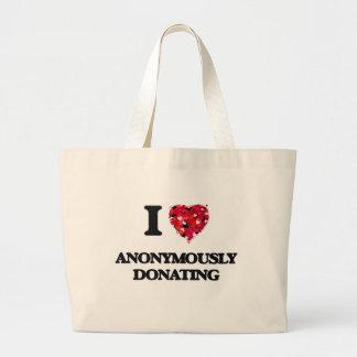 Jag älskar Anonymously att donera Jumbo Tygkasse