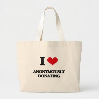 Jag älskar Anonymously att donera Tygkassar