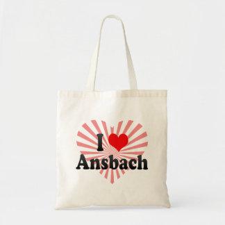 Jag älskar Ansbach, Tyskland Budget Tygkasse