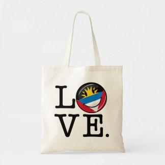 Jag älskar Antigua och Barbuda som ler flagga Budget Tygkasse